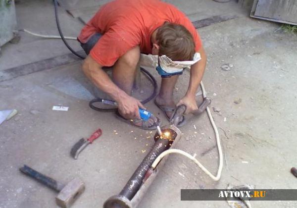 Восстановление целостности глушителя ВАЗ