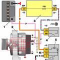 Подробная схема зарядки аккумулятора ВАЗ 2106 фото
