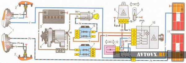 Схема зарядки ВАЗ 2106