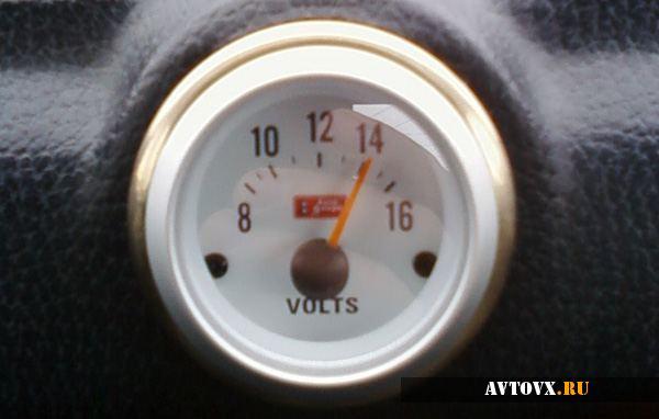 Часы вольтметр