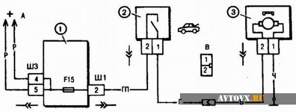 Электрическая схема багажника десятки