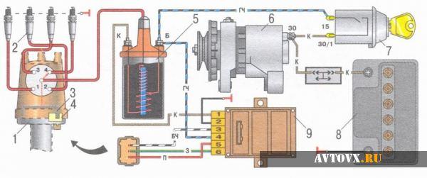 Схема зажигания ВАЗ