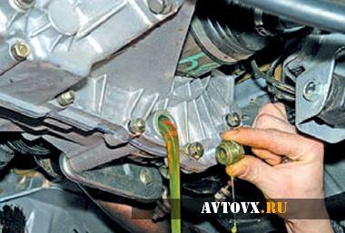 Замена масла в КПП ВАЗ 2110