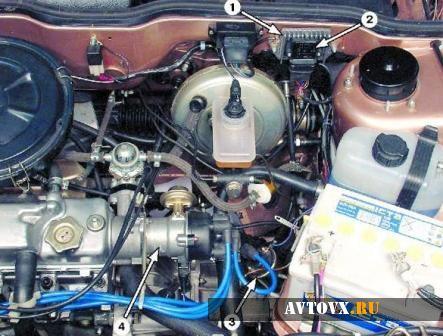 Схема двигателя ВАЗ 2109