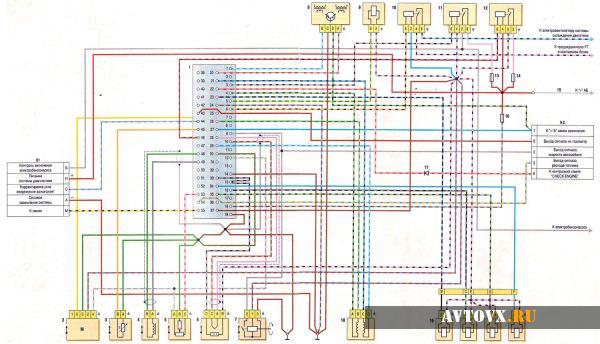 Схема инжекторного двигателя ВАЗ 2107