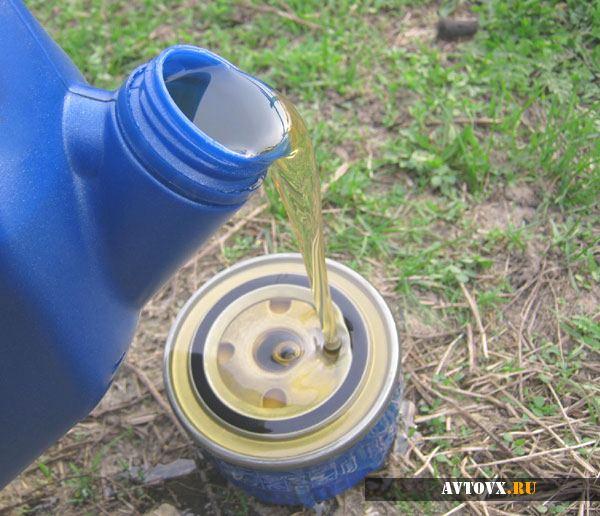 Замена масла в фильтре
