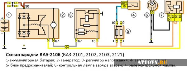 547 82d78a3332a003f9680d4193045e0e91 - Схема подключения реле зарядки на ваз 2106