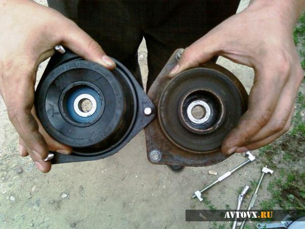 Замена подушки двигателя в автомобиле ВАЗ 2110