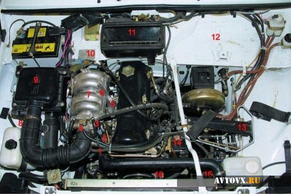 Видоизмененній двигатель ВАЗ 2106 с инжектором