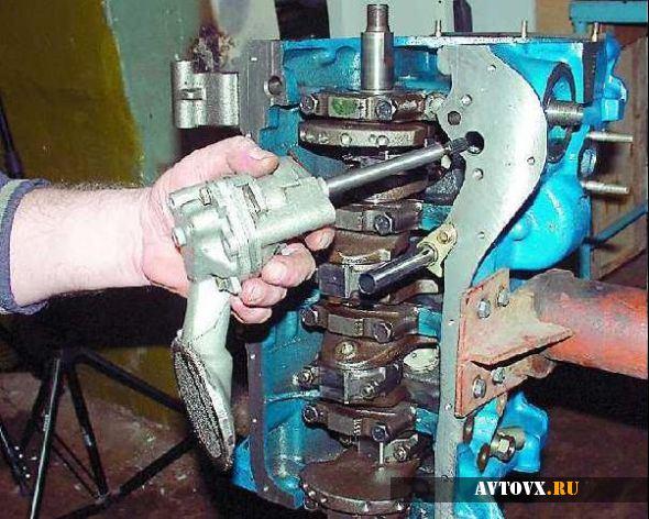 Демонтаж масляного насоса ВАЗ 2106