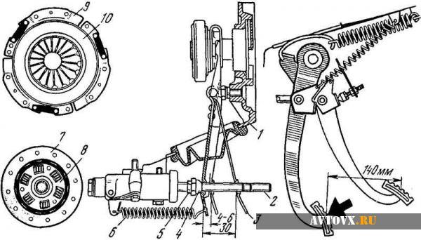 Регулировка сцепления по схеме ВАЗ 2107