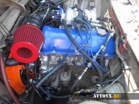 Внешний вид инжекторного двигателя ВАЗ 2107