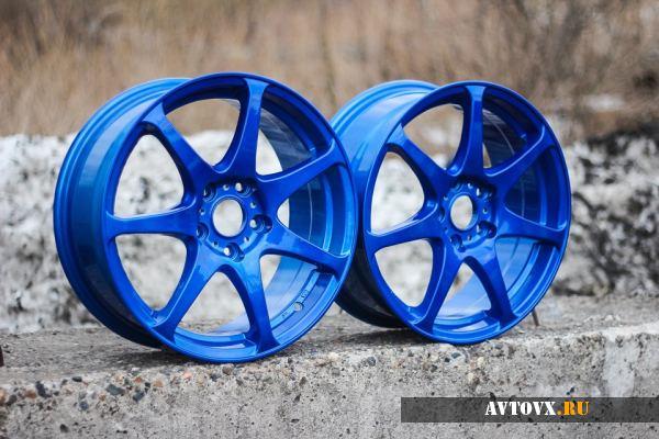 Порошковая краска для дисков синего цвета