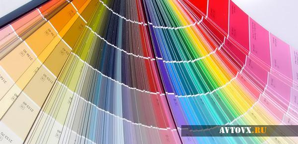Цветовая палитра для покраски авто