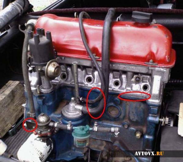 Сборка элементов двигателя ВАЗ 2106