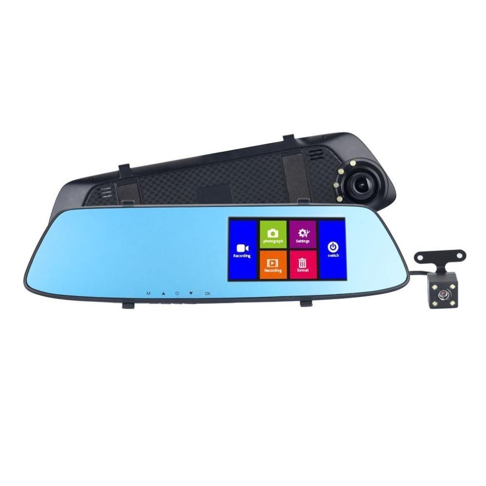 Зеркало видеорегистратор с камерой заднего вида фото
