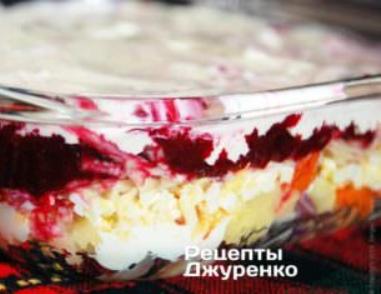 Сельдь под шубой — праздничный салат фото